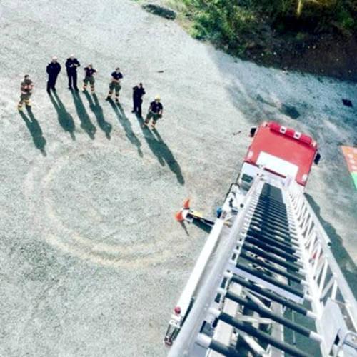 Ladder Truck Firefighters